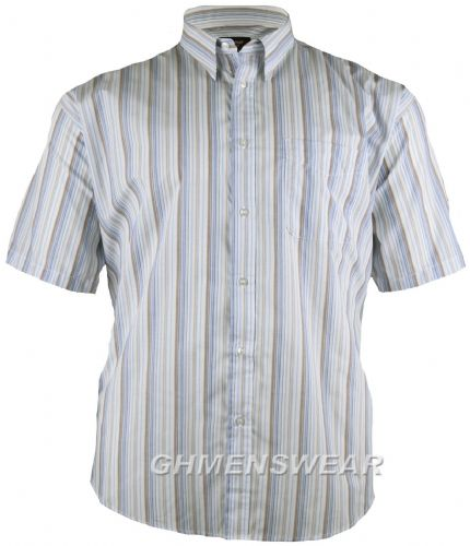 Metaphor Multi Stripe Short Sleeved Shirt